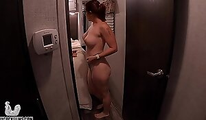 Big Peeping a Mature MILF Try on Panty Haul - Voyeur - Panties - Topless - Shiny Cock Films