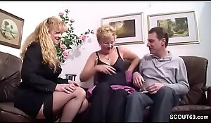 German Fat Titty Mummy Coax Out-and-out Couple close by Fianc'