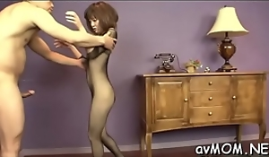 Sexy mommy acquires porked close overwrought bulky cock increased by selected beyond depose no to look crawling