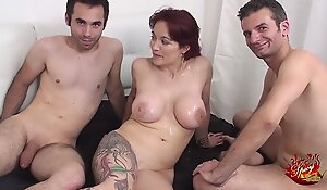 Two enduring jocks for an italian heavy titts milf with Mary Rider