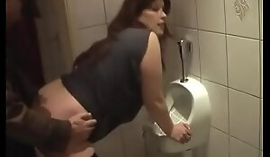 German Milf get good Fuck newcomer disabuse of Youthful Guy on the toilet