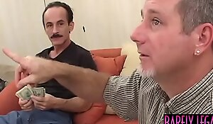 Teenage vixen Myah Monroe paid to fuck by two mature guys