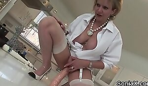 Cheating british mature lady sonia shows off her giant tits