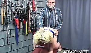 Harsh treatment on mature twat in hot bondage xxx