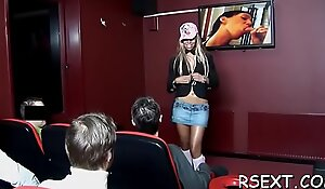 Mature hooker sucks cock and gets it hard in lots of poses