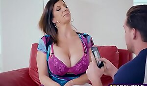 Busty milf mommy copulates with the neighbours chap for specie