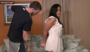Mom blackmailed by stepson