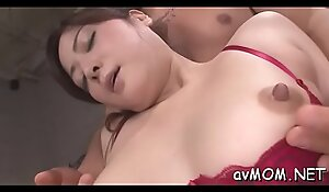 Hairy wet cunt mom takes two dildos to her love button making her moan
