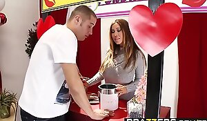 Brazzer xxx video - mama got wobblers - mama mans the giving a kiss booth scene starring kianna dior and danny mount