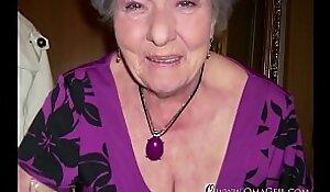 Omageil Horny granny masturbation her aged pussy
