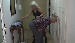 Old couple trick son's GF