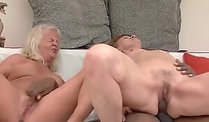 big cock anal interracial be required of two grannies
