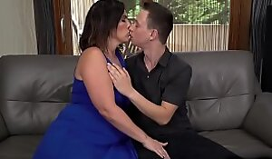 Busty mature woman Montse Swinger takes a young meaty cock plus enjoyed getting pounded hard by this young stud Nikki Nuttz.