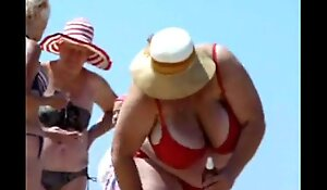 Russian BBW Mature Big Boobs on beach  Amateur  More on xxx  18CAMS XXX PORN video