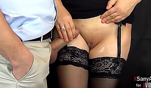 Will he cum on her pussy ?? Pussyjob and handjob from an excited secretary to the boss ... she clearly deserves a promotion in her career!  porn  XSanyAny