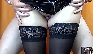 Thigh jobs :) Sexy legs in stockings and high heels - XSanyAny