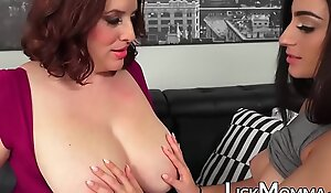 Busty mature loves fingering stepdaughters wet pussy