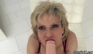 Unfaithful british mature lady sonia exposes her gigantic boobies