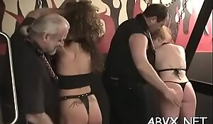 Dilettante bondage with breasty mature