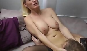 Fat But Rich Neighbor Man With Big Cock Fucks Mature Milf