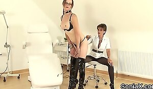 Unfaithful english mature lady sonia pops out her huge puppies