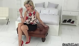 Unfaithful british mature lady sonia presents her monster tits