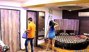 Indian Mona Bhabhi Teasing Room Service Boy Close by Motel Exposing Big Ass