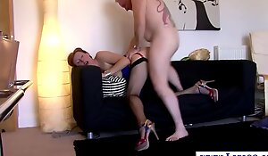 Mature in nylons pounded from behind after engulfing
