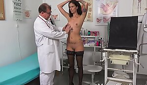 Slender MILF Ali Bordeaux made to cum by freaky doctor - MatureGynoExam porn clip