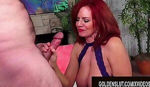 Golden Slut - Redheaded Mature Beauties Blowjob Compilation Part 1