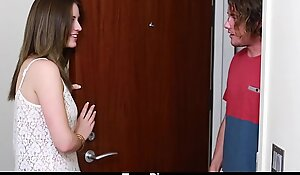 Teenpies - legal age teenager receives creampied by her mom's bf