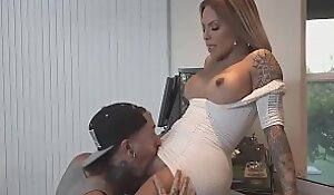 TS Foxxy sexy shemale mom fucks son